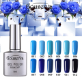 New Arrival 12 colors Blue Series Gel Nail Polish DIY Nail Art Salon UV Nail Polish 8ML SoakOff Gel Lucky Free Shipping Gouserva