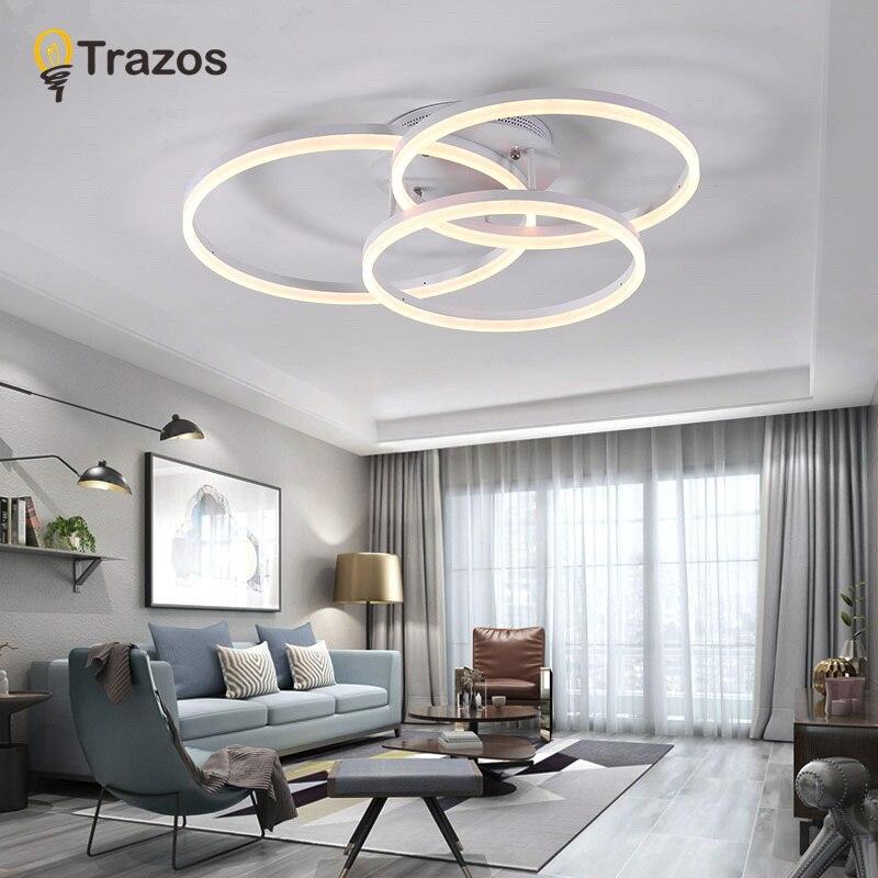Современные светодиодные потолочные светильники для Гостинной led люстра потолочная в спальню круглая светодиодная лента AC85-260V потолочный ...