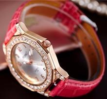 Rosa de Oro Rhinestone Reloj de Las Mujeres 2017 Top Famosa Marca De Lujo Mujer Reloj Negocio Reloj de Cuarzo de Las Mujeres Relojes Waches Relo