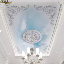 цена на 2015 Custom photo wallpaper Zenith ceiling fresco ceiling painting modern European hotel KTV 3d wall mural wallpaper