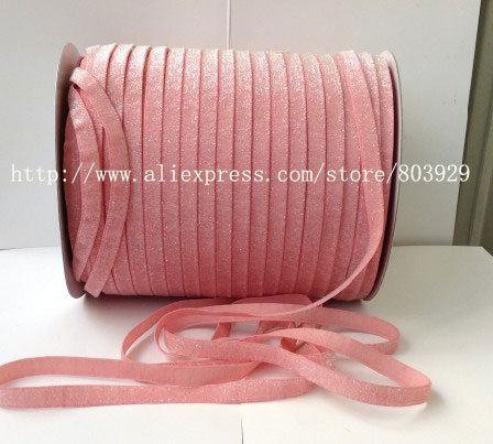 50yards lot Non stretch 1 5 Frosted Dusty Rose Metallic Ribbon
