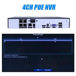 Image 4 - Hiseeu 4CH 8CH 4MP 5MP PoE NVR لبو نظام كاميرا شبكية مراقبة H.265 48 فولت 802.3af ONVIF CCTV NVR XMEYE التطبيق