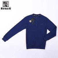 REACH T Shirt Spring Autumn Fashion Casual Slim Elastic Soft Solid Long Sleeve Men T Shirts