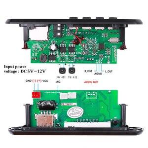 Image 5 - KEBIDU 핸즈프리 MP3 플레이어 디코더 보드 5V 12V 블루투스 5.0 6W 앰프 자동차 FM 라디오 모듈 지원 FM TF USB AUX 레코더