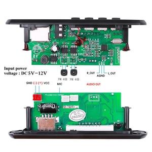 Image 5 - KEBIDU דיבורית MP3 נגן מפענח לוח 5V 12V Bluetooth 5.0 6W מגבר לרכב FM רדיו מודול תמיכת FM TF USB AUX מקליטי