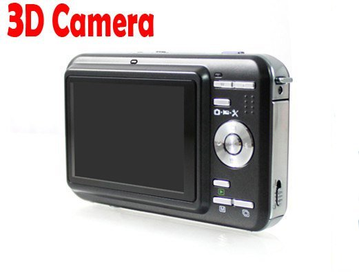 Funny 3d medium video camera record all wonderful moment in 3d!work with all 3d TV, best 3d camera. Free shipping