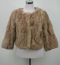 S1536 New Genuine fur jacket women Real rex rabbit furcoat lady winter warm fashion