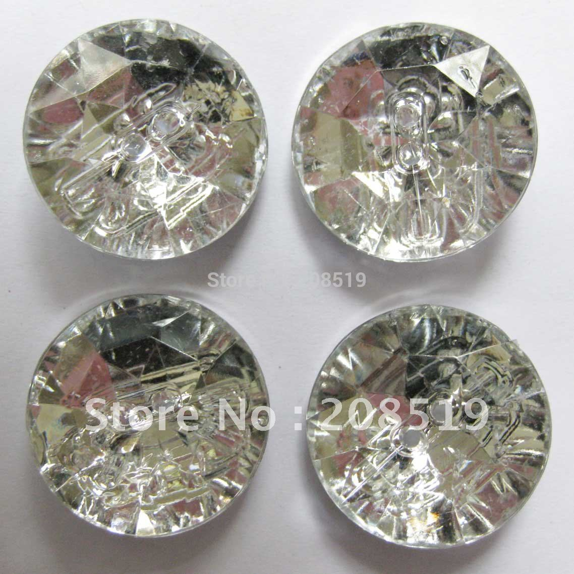 100% True Nb0024 Acrylic Crystal Buttons 20pcs Round 27.5mm 2 Holes Large Buttons Decorative Sofa Buttons Bringing More Convenience To The People In Their Daily Life 1.08