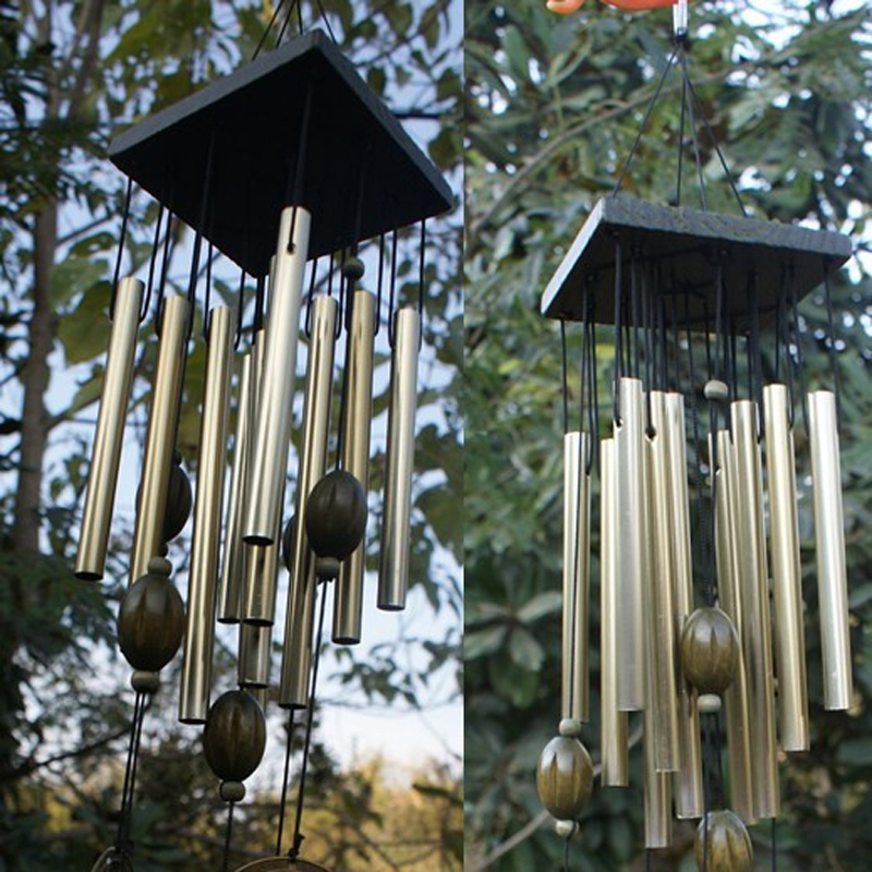 Moon Star Wind Chime Metal Rust Proof Beautiful Sound Lucky Hanging Bell 37cm