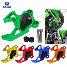 Cheapest prices waase Aluminum Alloy Motorcycle Front Brake Caliper Protector For Kawasaki Z125 / Z125 Pro 2015 2016 2017