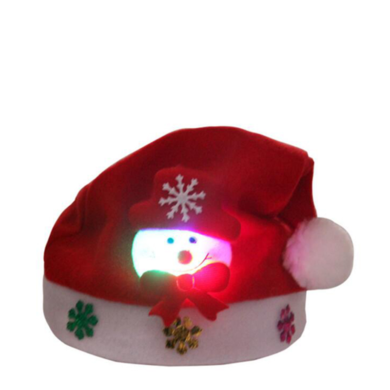 Christmas Hats Kids And Adult LEDLight UpLuminous Flash Santa Hats Christmas Party Decoration Christmas Decorations For Home (5)