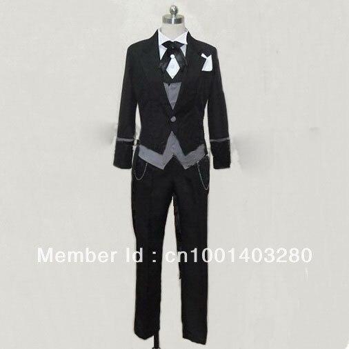 Black Butler Kuroshitsuji Sebastian Cosplay Costum free shipping