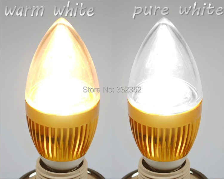 FREE 5XE14 E12 E27 E26 9W 12w 15w Dimmable AC85~265V LED Sliver Color Candle Light LED bulb lamp LED spotlight lighting