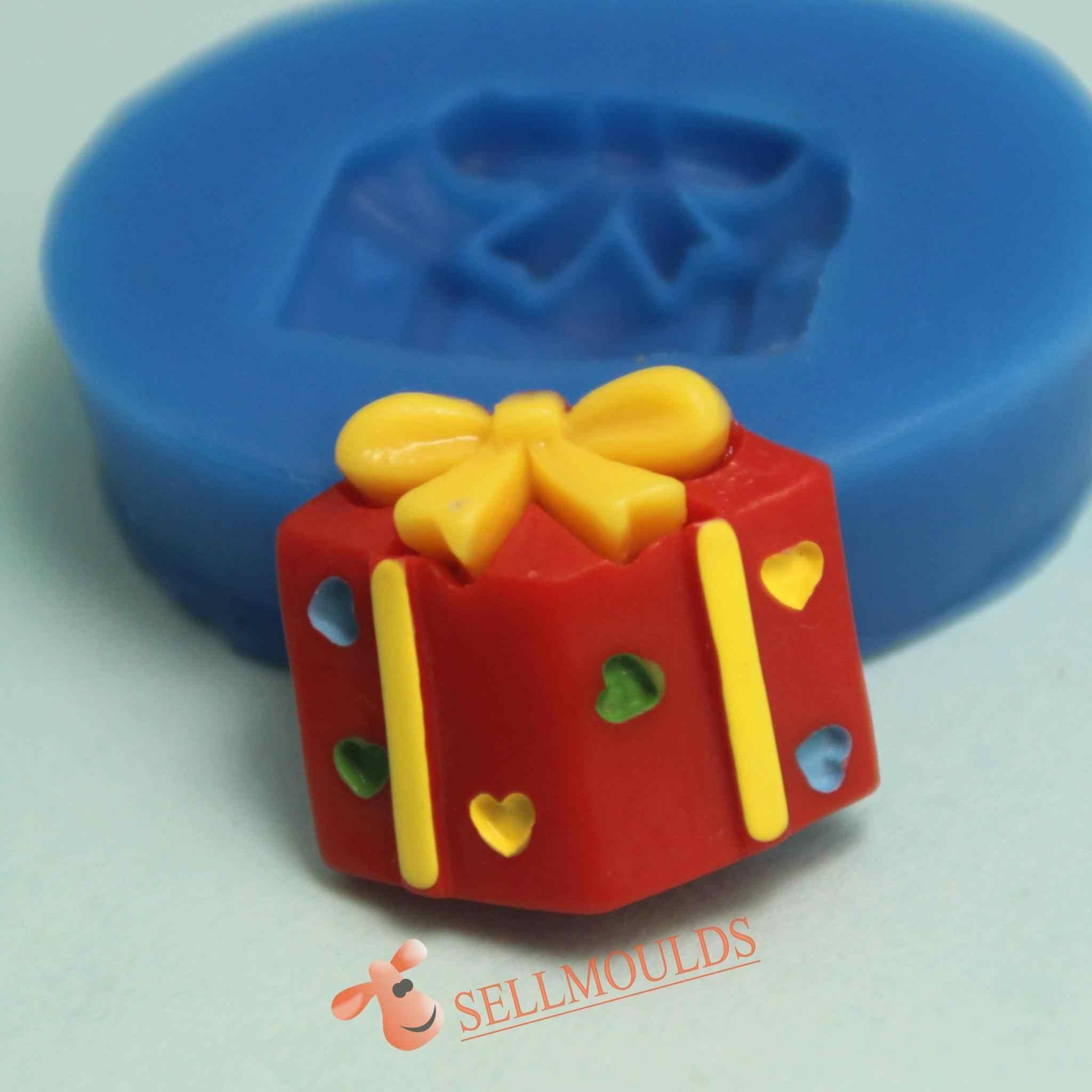 F1019 جديد هدية الكريسماس قالب من السيليكون فندان قوالب سيليكون قالب الكعكة bksilicon صغيرة