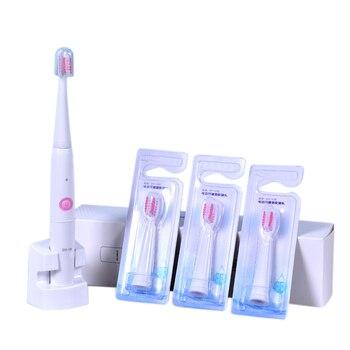 Dy18 электрическая зубная щетка звуковая для взрослых Индуктивная электрическая зубная щетка держатель с 4 сменная насадка для зубной щетки ...