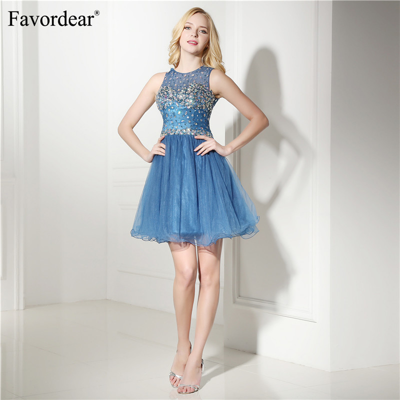 Favordear Backless Formal   Dress   Elegant beadings   Cocktail     Dresses   2018 Homecoming   Dresses   sexy   cocktail     dresses