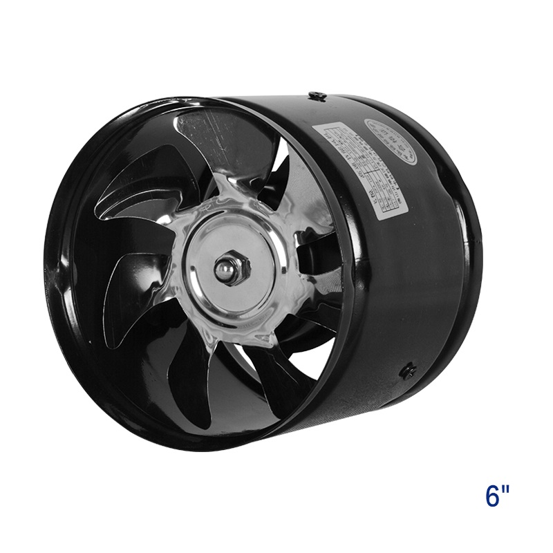 6 inch booster inline ducted fan ventilation fan metal fan ...
