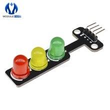 Мини 5V движения светильник светодиодный Дисплей модуль для Arduino красный желтый и зеленый цвета 5 мм светодиодный мини-трафика светильник для краски для дорожной светильник Системы модель