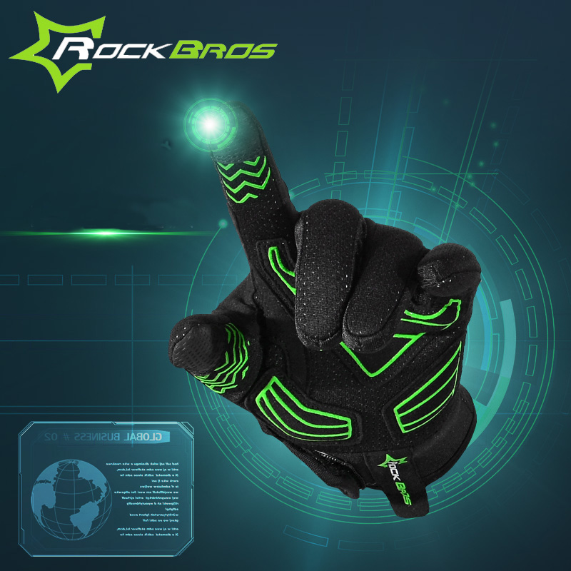 RockBros Windproof Winter Fleece Thermal Road MTB <font><b>Gloves</b></font> Long Cycling <font><b>Gloves</b></font> Motorcycle Sport Bike <font><b>Gloves</b></font> Mittens Gants Velo
