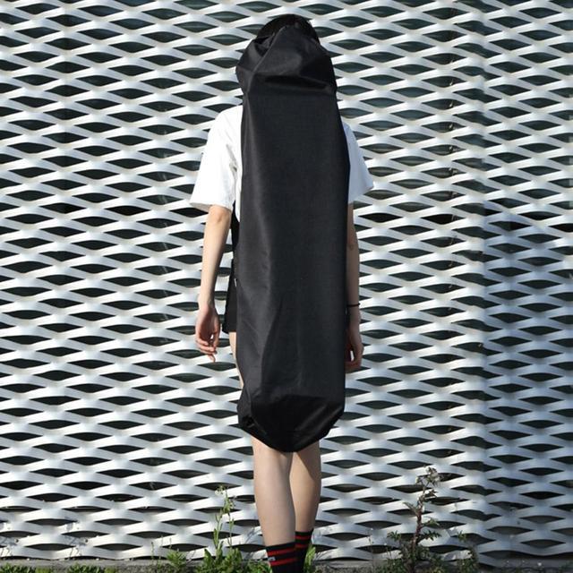 Регулируемый Черный рюкзак для Лонгборда Скейтборд сумка для переноски танцевальная доска Дрифт доска путешествия Лонгборд рюкзак Shouler Drawstring