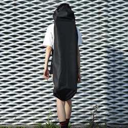 Регулируемый Черный Лонгборд рюкзак скейтборд сумка для переноски танцевальная доска Дрифт доска путешествия Лонгборд рюкзак Shouler Drawstring