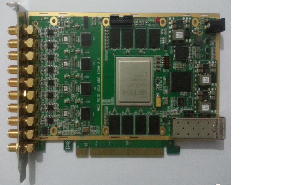 100MSPS 8 channel 14 bit Pcie real time acquisition card