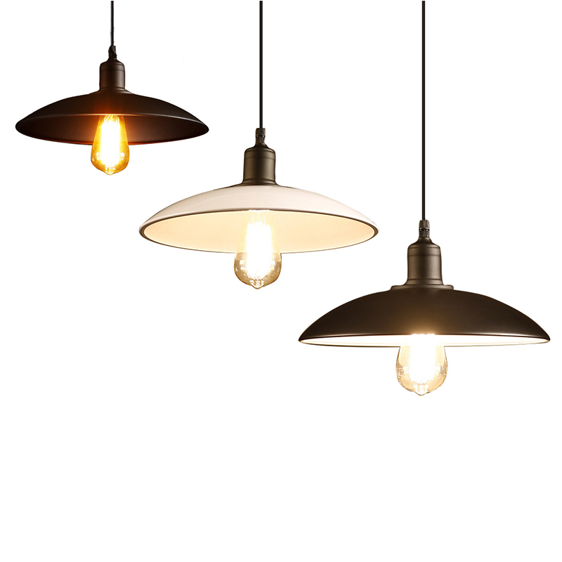 White/Black Pendant Lamps Amber Kitchen Pendant Lights Hanglamp Modern Brief American Vintage Pendant Light Bar Counter PLL-608