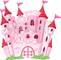 Thin Fabric Cloth Printed Photography Background Children Castle Backdrop 5ft X 7ft D 1513