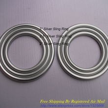 Free Shipping 1 pair 2″ 2.5″ 3″ Size available Silver Aluminium Sling Rings DIY Your Best Baby Slings for Newborns