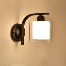 Modern Wall Sconce Lamp Luminary E27 Mounted Bedside Lamps Fixtures Loft Home Lighting with Knob switch