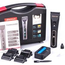 Профессиональный Электрический Машинка для стрижки волос Титан лезвие 2000mA Батарея Для мужчин; триммер для бороды ЖК-дисплей Дисплей волос Резка машина для салона