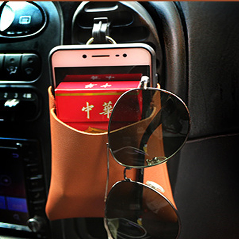 Image 3 - New Arrival Car Outlet Vent Tidy Storage Box With Charging Hole PU Leather Coin Bag Case Pocket Organizer Hanging Holder Pouch-in Stowing Tidying from Automobiles & Motorcycles