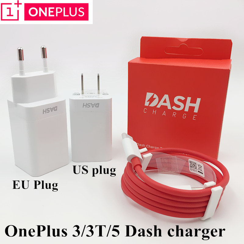 Original Oneplus 3t Dash Charger Oneplus 3 5 charge adapter USB wall fast charger Type C