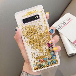 Image 3 - KISSCASE Glitter Liquid Quicksand Silicone Case For Samsung Galaxy S10 Plus App Icon Cover Coque For Samsung S10 Lite Case Funda