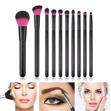 Top Luxury High Quality Fashion 10pcs Makeup Brushes Set Nyl