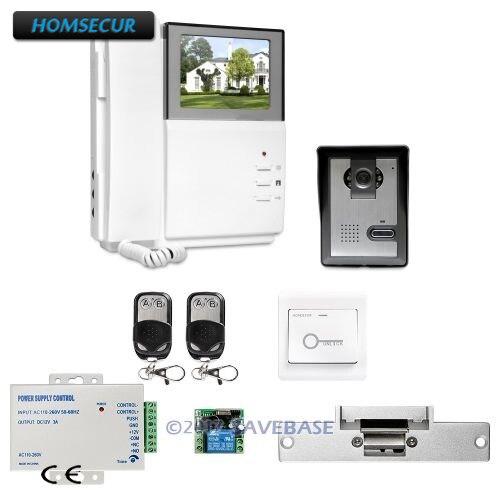 HOMSECUR 4.3inch Video Door Entry Security Intercom With Intra-monitor Audio Intercom
