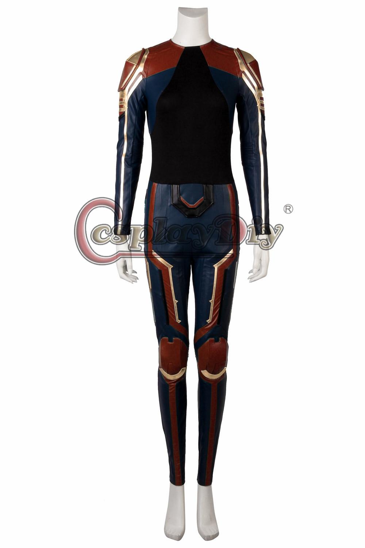 Carol Danvers CAPITAN MARVEL Blu Rosso Felpa Con Cappuccio Felpa Giacca Donna Stile