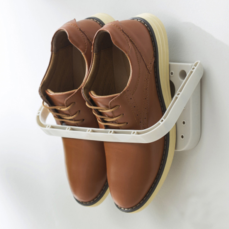 Three Dimensional and Wall Mounted Shoe Rack for Storage of Slippers High Heels and Sports Shoes 1