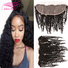 Brazilian Curly Lace Frontal 13X4 Ear To Ear Lace Frontal Closure Brazilian Lace Frontals With Baby Hair Human Hair Full Frontal