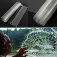 100cm x 1000cm Safety Clear transparent Tint Window Film 1mx5m For Bathroom/ Car Windows Shatter proof