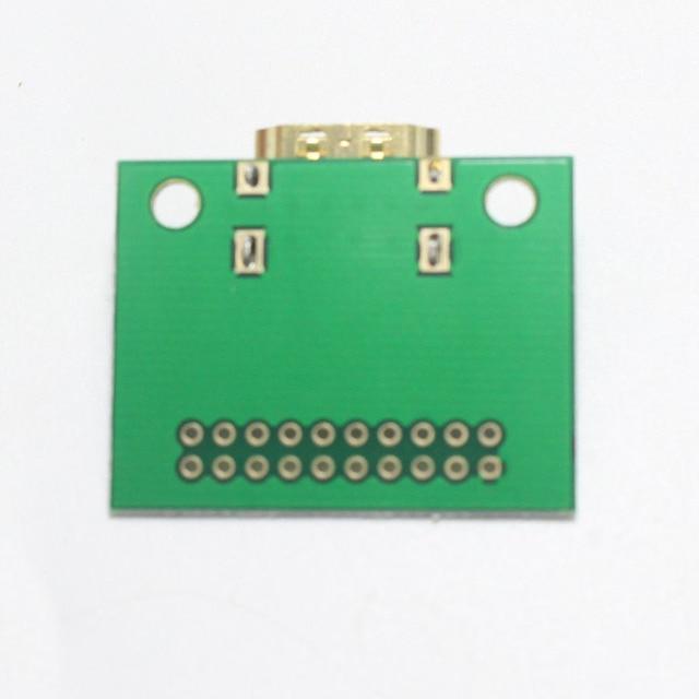 EClyxun prise de Test HDMI plaqué or | 1 pièce, prise de test 19Pin HDMI, adaptateur HDMI 19 broches, carte de Test avec panneau de PCB vert