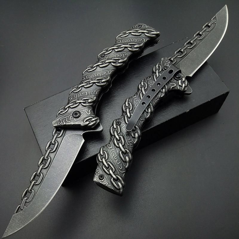 Nóż składany Stonewash Chain Taktyczne składane noże Noże - Narzędzia ręczne - Zdjęcie 2