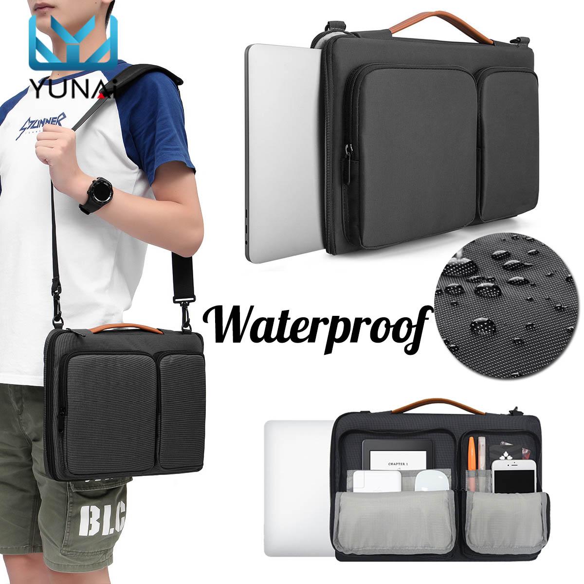 YUNAIラップトップバッグスリーブMacbook Air Pro Retina 14インチノートブック保護ケース用男性女性ビジネスタブレットキャリーバッグラップトップバッグ
