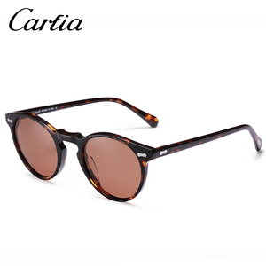 Image 5 - Carfiaแว่นตากันแดดPolarizedคลาสสิกยี่ห้อDesigner Gregory Peck Vintageแว่นตากันแดดผู้ชายผู้หญิงรอบดวงอาทิตย์แว่นตา 100% UV400 5288