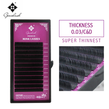 0.03 C/D krul 10 pcs Mink Materiaal Wimper Extension gratis verzending super dunne Zachte Tray Lashes Mega Volume individuele wimpers