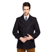 2016 new winter woolen coat jacket men's clothing brand in the long paragraph Slim lapel woolen coat Men WZ104