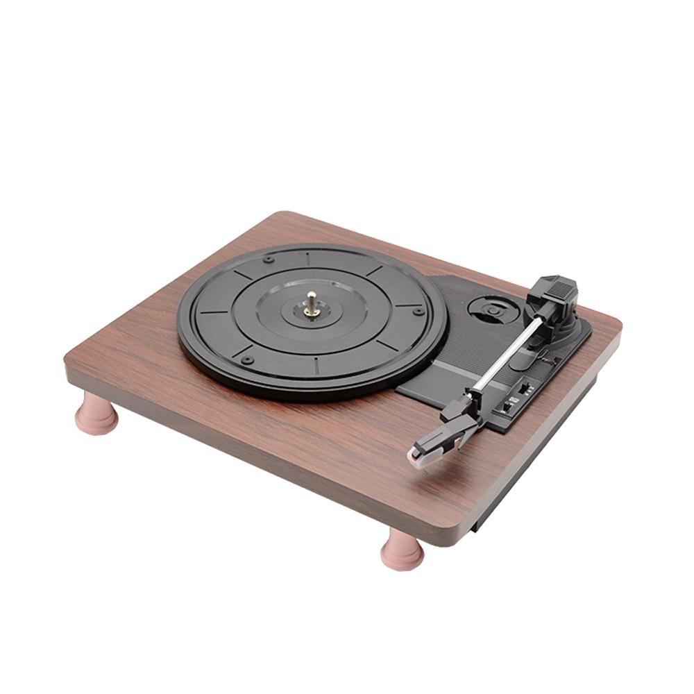 Retro Vinyl Record Player 33RPM Portable Audio Gramophone Turntable Disc Vinyl Audio RCA R/L 3.5mm Output USB Vinyl Player New