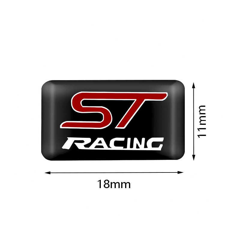 سيارة التصميم 10 قطعة ST سباق رياضة السيارات الزخرفية شارة ملصقات السيارات لفورد التركيز 2 التركيز 3 مونديو فييستا kuga MK2 MK3 MK4