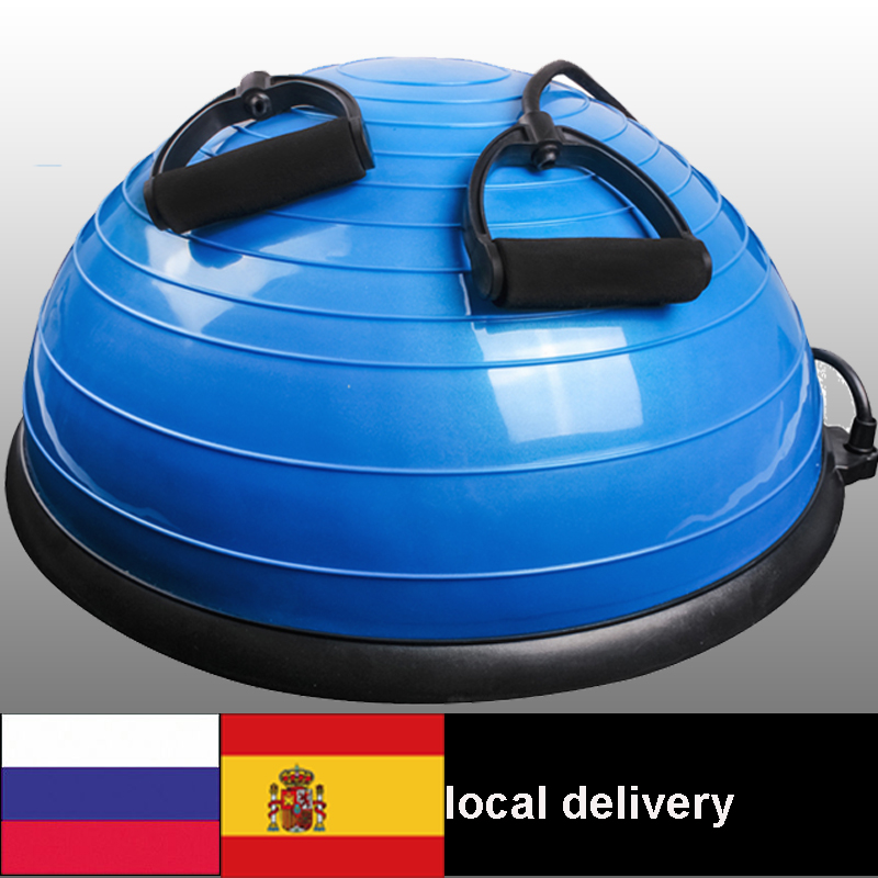 58 cm Yoga Balance Ball Gym Workout Ball Pilates Moitié balle de Yoga Exercices Formation Fitball Avec Cordes et Pompe