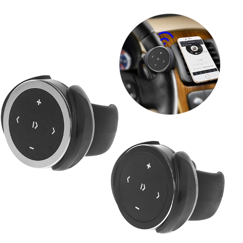 Hot New 1 Set Multifunction Auto Car Wireless Bluetooth Media Steering Wheel Remote Control MP3 Music Player Portable